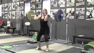 Daily Training 11-24-14 - Blake snatch Greg push press + push jerk Kara clean + front squat Sam power jerk Stephanie power jerk - Catalyst Athletics Olympic Weightlifting Videos