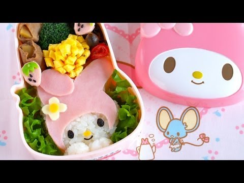 how to make hello kitty bento lunch box kyaraben recipe apps directories. Black Bedroom Furniture Sets. Home Design Ideas
