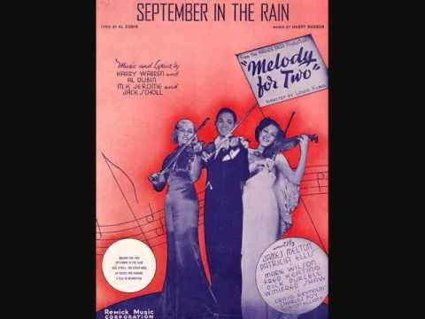 Tekst piosenki James Melton - September in the Rain po polsku