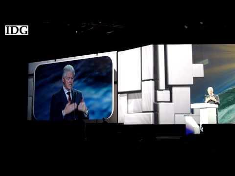 Former U.S. President Bill Clinton speaks at CES