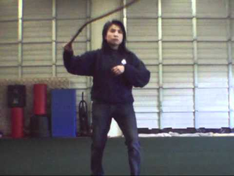 "Bullwhip:  Whip cracking simple routine, ""Sidewinder"""