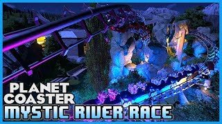 This coaster features a beautifully scenic river by day and a mesmerizing mystic river by night ! Board one of the duel coasters and race to the finish throu...