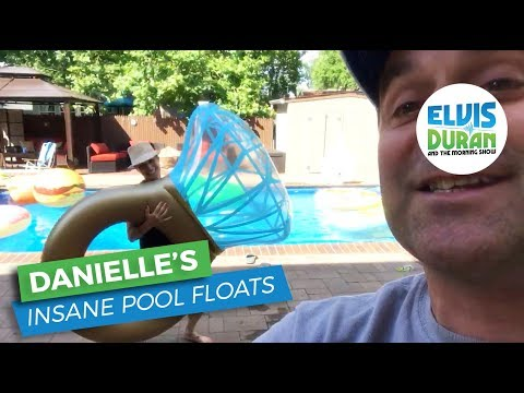 Danielle's Insane Pool Float Collection | Elvis Duran Exclusive