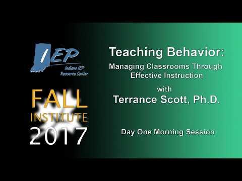 Teaching Behavior: Managing Classrooms Through Effective Instruction Part 1