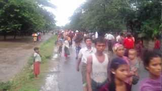 Sittwe Myanmar  city photo : Arakan Muslim flee to outside Sittwe, Myanmar.