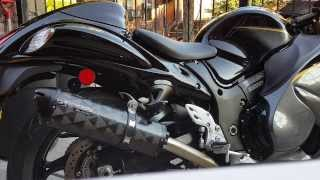 9. 2015 Suzuki Hayabusa Two brothers exhaust sound
