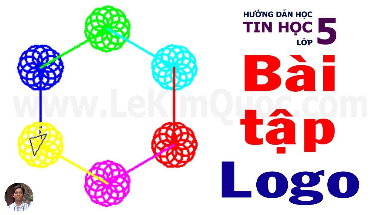 🐢 Hướng dẫn thực hành phần mềm Logo (Sách Bài Tập) 🐢 Bài 6 🐢 Chủ đề 4 🐢 Tin Học Lớp 5