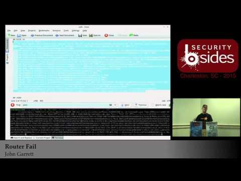 Router Fail - John Garrett