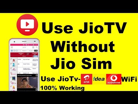How to use JioTV without jio sim card | Use Other Sim Idea,Vodafone,Airtel or WiFi connection
