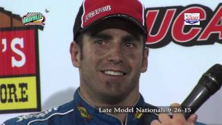 Knoxville Raceway 9-26-15 Lucas Oil Late Models Victory Lane