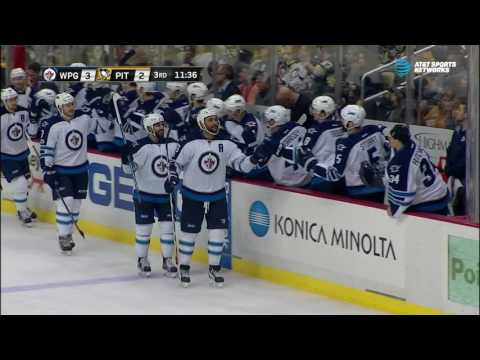 Video: Byfuglien given all the space he needs to score wrap-around goal