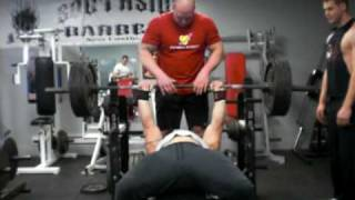 New Castle (PA) United States  City new picture : Terry Gibson bench press training 405lbs 1-11-10 New Castle, PA USA
