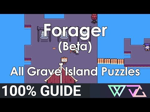 Forager (Beta) - 100% Guide: All Graveyard Island Puzzles Quests (Overworld)