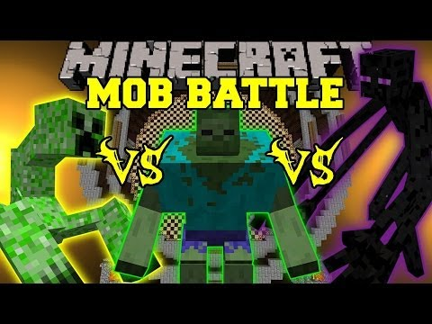 MUTANT ENDERMAN VS MUTANT CREEPER VS MUTANT ZOMBIE - Minecraft Mob Battles - Mutant Creatures Mod