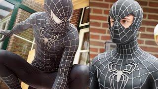 Video SPIDER-MAN Black Suit Movie Costume Replica! MP3, 3GP, MP4, WEBM, AVI, FLV April 2018