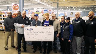 Price Rite donated 43 sacks of food to New Beginnings Food Pantry after UB Football recorded a record number of sacks in 2019.