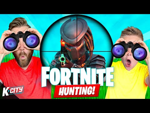 Hunting for PREDATOR in FORTNITE Family Challenge! K-CITY GAMING