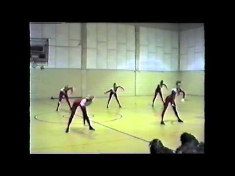 Northwest Sidekicks drill team - Spring 1989 - officer jazz routine - Marching Auxiliaries UTSA