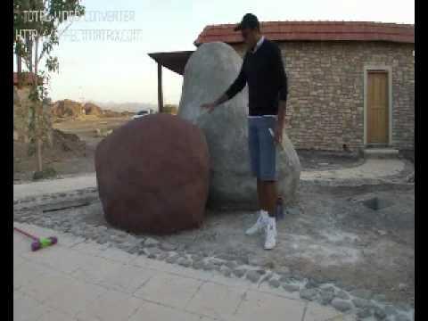احمد العزاني كيف تصنع صخرة كبيرة decorative concrete big rock