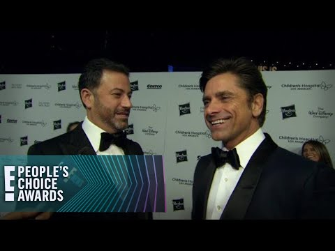 John Stamos Informs Jimmy Kimmel Of PCAs Finalist Status | E! People's Choice Awards