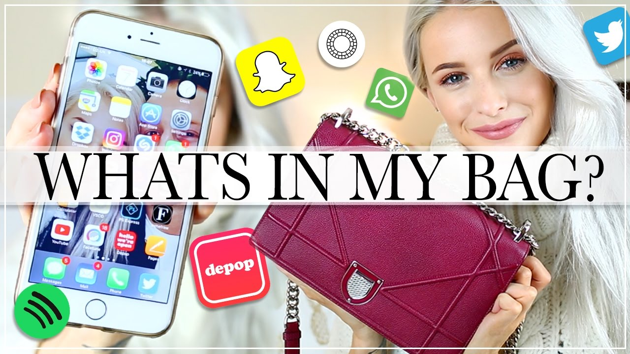 WHAT'S IN MY BAG AND WHAT'S ON MY IPHONE? + INSTAGRAM PHOTO EDITING APPS!