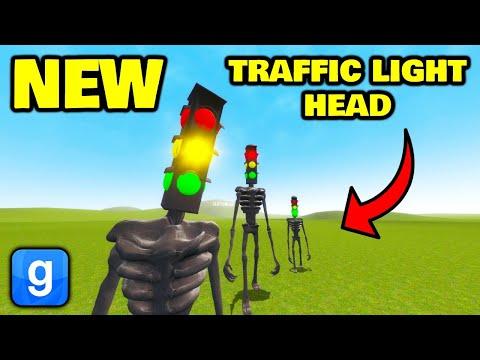 NEW TRAFFIC LIGHT HEAD SIREN HEAD IS OP!! Garry's Mod Nextbot
