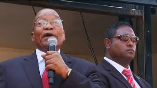 Video (WATCH) Jacob Zuma addresses crowds after postponed trial MP3, 3GP, MP4, WEBM, AVI, FLV November 2018