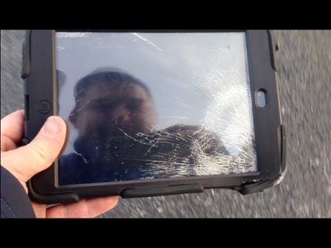 Extreme iPad Mini Roof Drop Test! (Griffin Survivor vs Otterbox Defender)