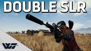 DOUBLE SLR - Gotta love this gun! - PUBG Gameplay
