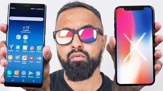 iPhone X vs Samsung Galaxy Note 8