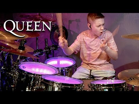 FAT BOTTOMED GIRLS - QUEEN - Drum Cover By Avery Drummer