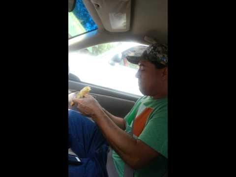 Hondureño en houston. Almuerzo bananero