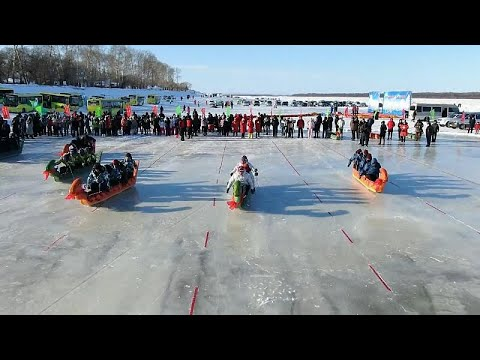 Κίνα – Ρωσία: Αγώνας στον παγωμένο ποταμό Αμούρ με όχημα τους δράκους…
