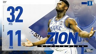 Zion Williamson drops 32 points as Duke survives UCF in NCAA tournament