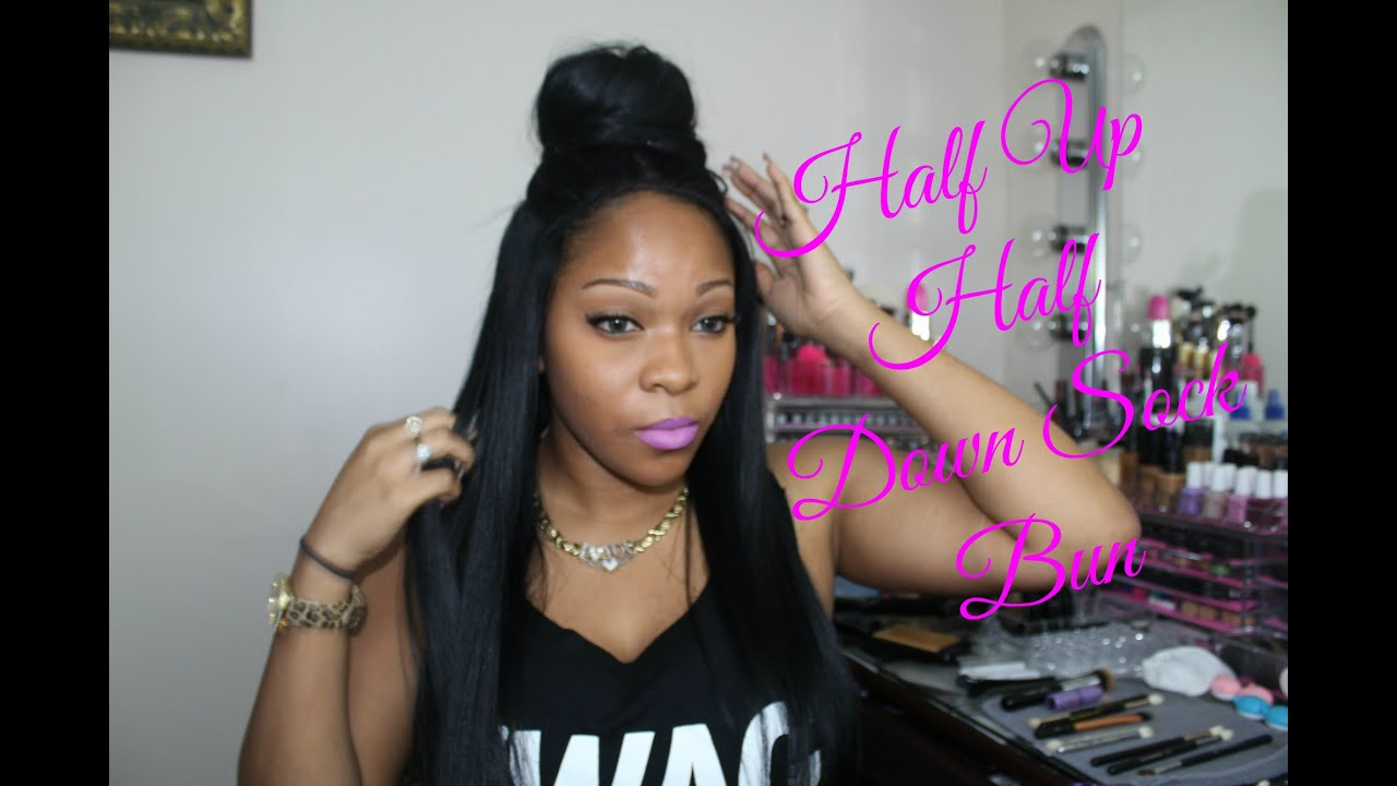 Half Bun Half Down Natural Hair Half up Half Down Bun With