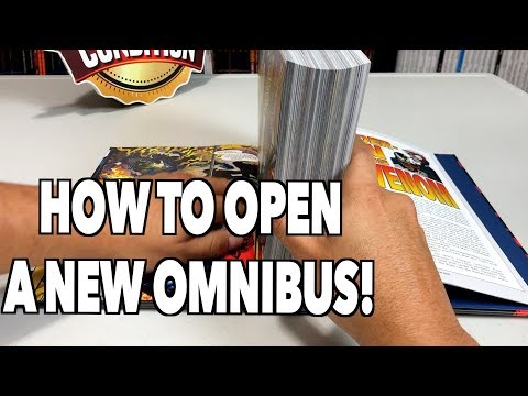 How to properly open new Omnibus and Hardcovers!