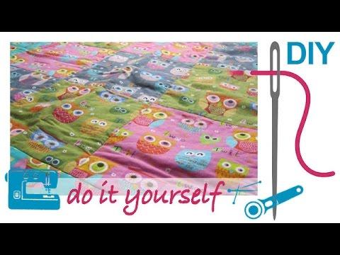 DIY / Patchwork Decke und Kissen selber nähen – Patchworken für Nähanfänger