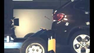 Crash trasero test BMW X1 en Cesvimap