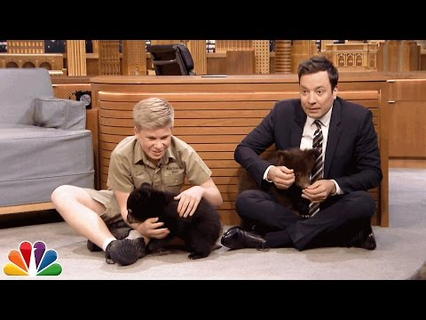 Robert Irwin and Jimmy Play with Baby Black Bears on The Tonight