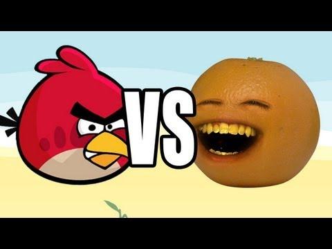 Annoying Orange vs Angry Birds: ORANGE видео