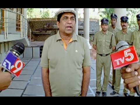 Badradri Full Movie Scenes - Brahmanandam leaks his master plan to the media - Nikitha  Raja 27 July 2014 07 PM