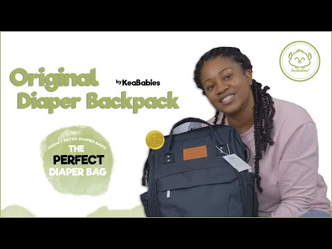 Highly Raved KeaBabies Diaper Bag Backpack | Practical For Everyday Outdoor Needs