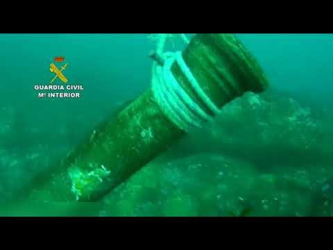 Recuperan un cañón de bronce del Siglo XVI expoliado
