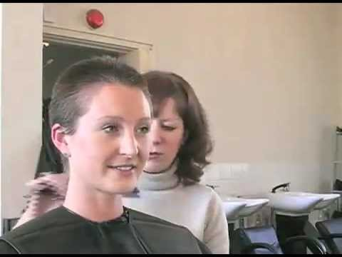 A woman cuts off her ponytail, then gets a buzzcut