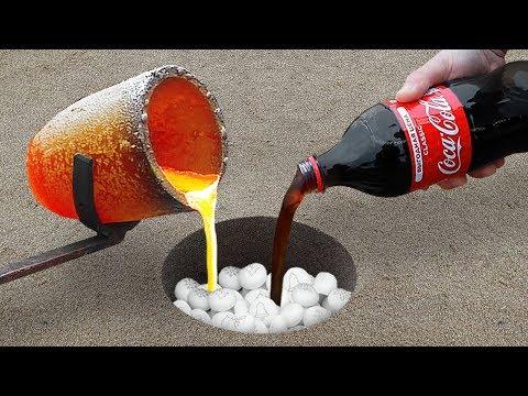 Experiment: Coca Cola and Lava Underground!