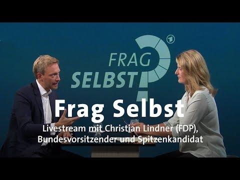"""LIVE: """"Frag Selbst"""" mit Christian Lindner (FDP)"""
