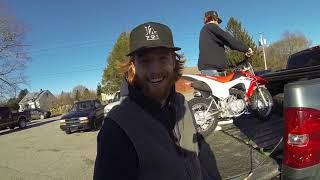 6. Picking up a brand new Honda crf 110 Vlog #5