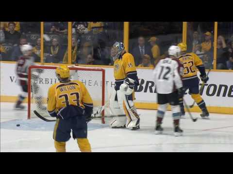 Video: Rinne has puck skip on him and Avalanche take lead