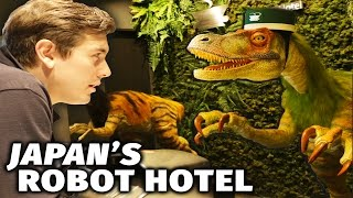 """Japan's robot hotel: The Henna Hotel or """"strange"""" hotel is causing a stir at the moment with lots of media coverage. We go and see if it lives up to the hype.► PATREON: http://patreon.com/abroadinjapan"""