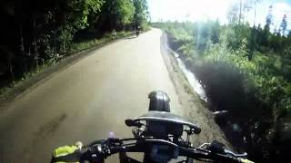 5. wheelie and cruising with Yamaha Dt 125 and Husqvarna Wr 250